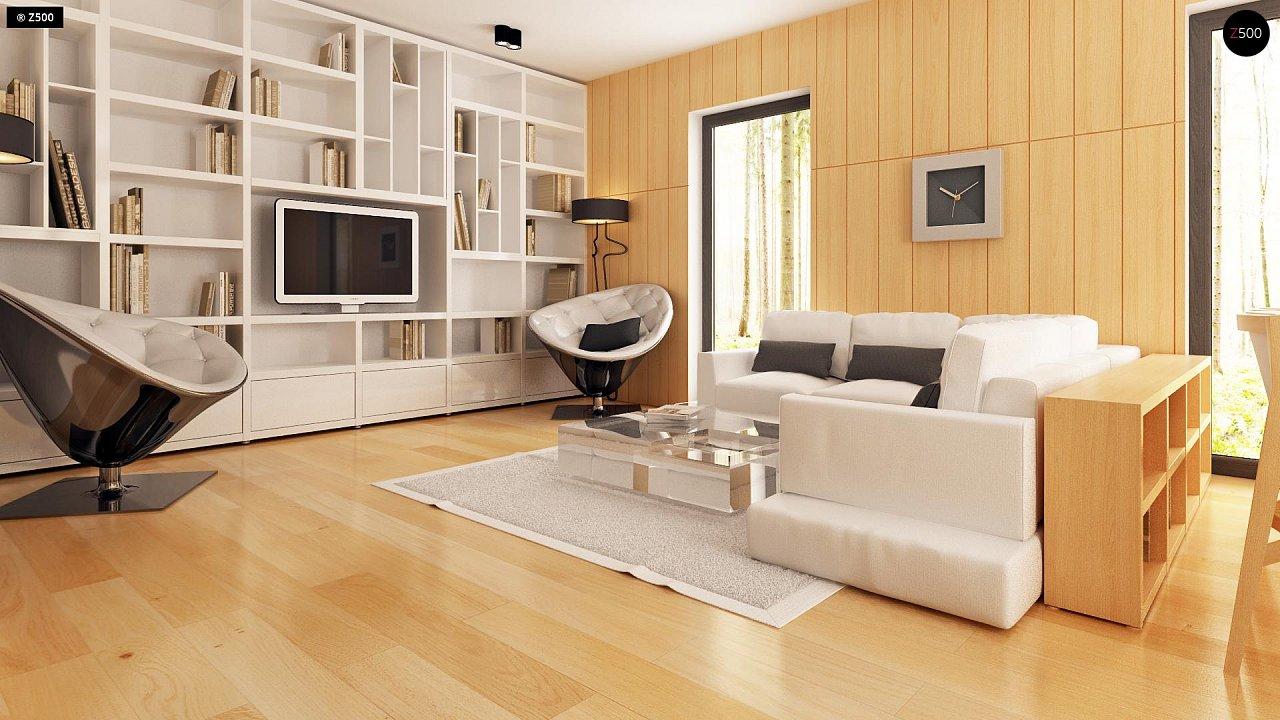 Современный эксклюзивный дом с каменной облицовкой, подходящий для узкого участка. 4
