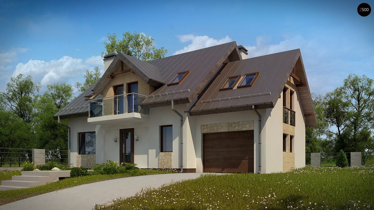 Стильный современный дом с пятью спальнями и гаражом. 3