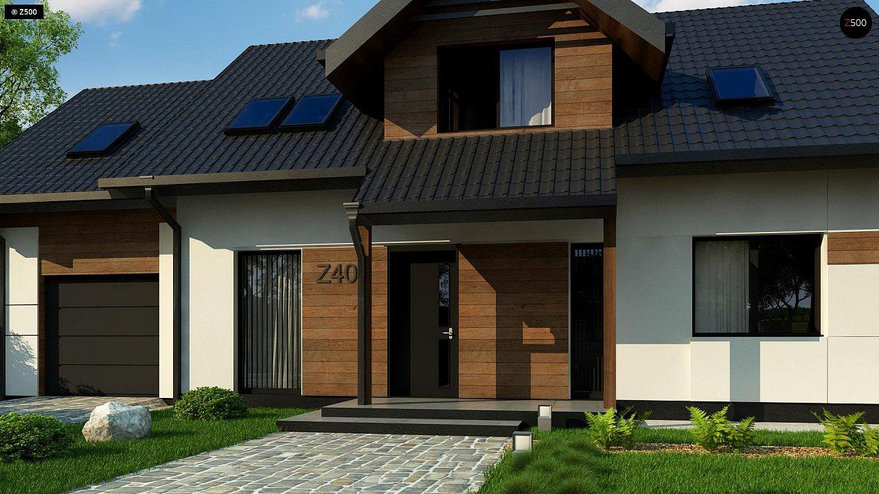 Красивый дом в традиционном стиле архитектуры, с комнатой на пером этаже и гаражом. - фото 6