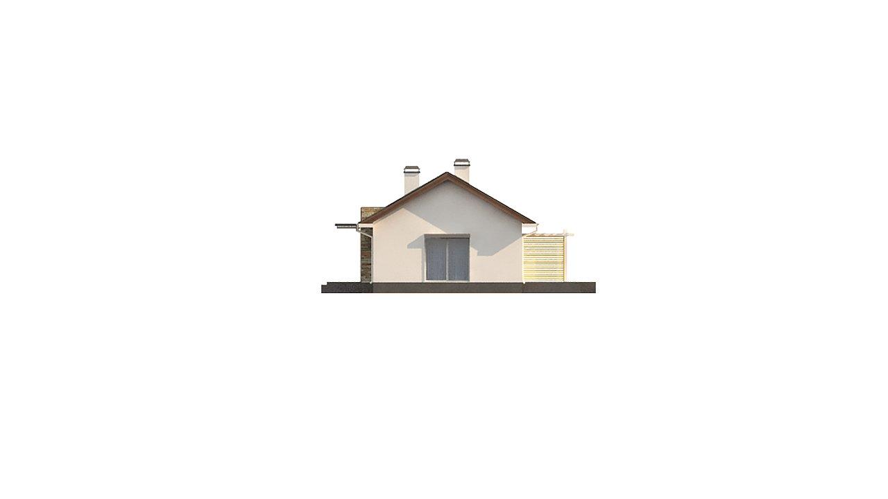 Простой и элегантный одноэтажный дом. 8