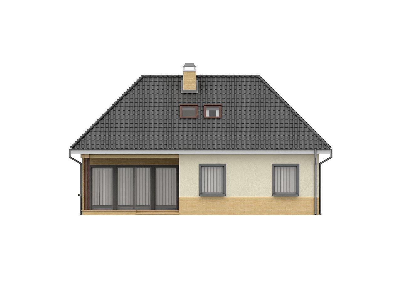 Традиционный дом с мансардой, с большим углом наклона крыши. - фото 4