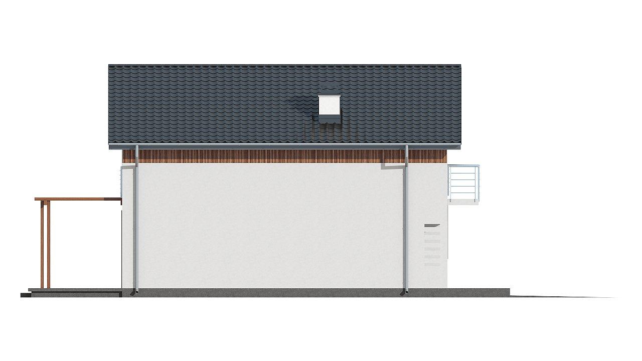 Зеркальное отображение проекта Z38 с гаражом с правой стороны. 14