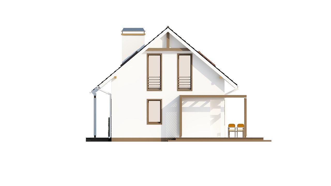 Проект каркасного мансардного дома в классическом дизайне 14