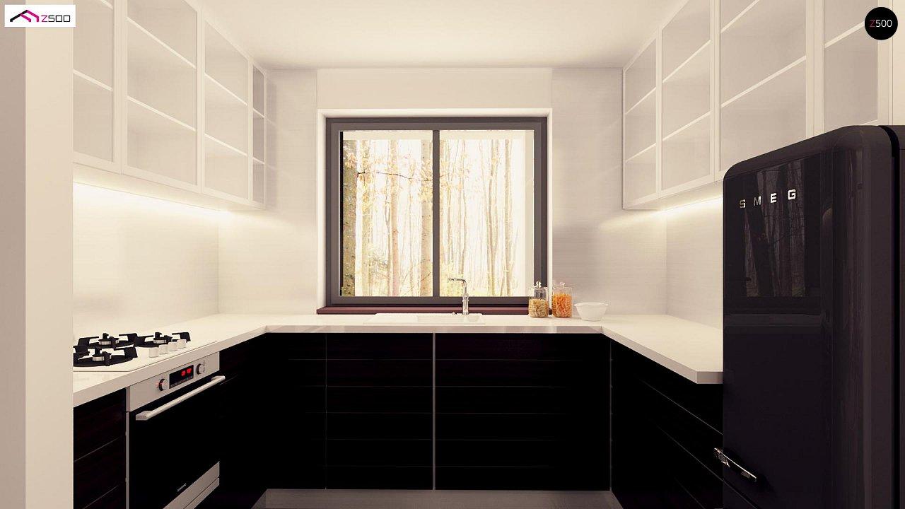 Вариант двухэтажного дома Zx92 с плоской кровлей с плитами перекрытия - фото 9