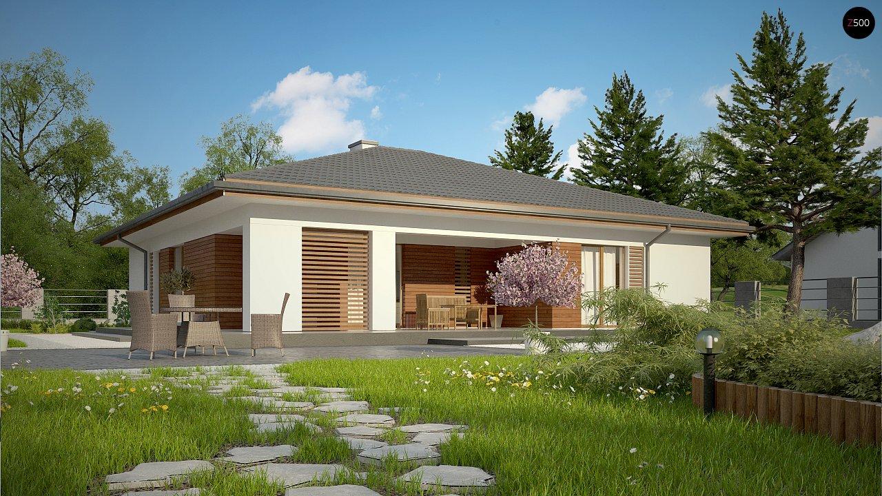 Стильный одноэтажный дом с комфортной крытой террасой 9