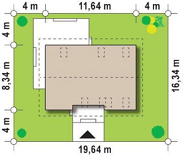 Проект простого и аккуратного дома с дополнительной ночной зоной на первом этаже. план помещений 1