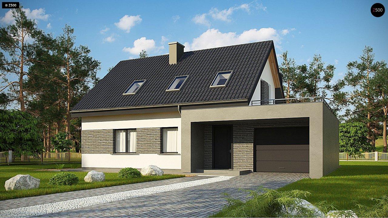 Проект комфортного дома в современном европейском стиле. - фото 1