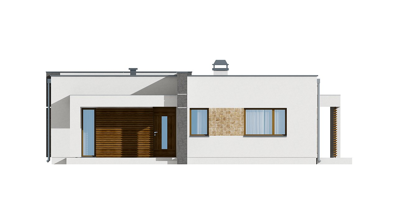 Небольшой дом из газобетона в стиле хай-тек — элегантный, практичный и экономичный. - фото 21