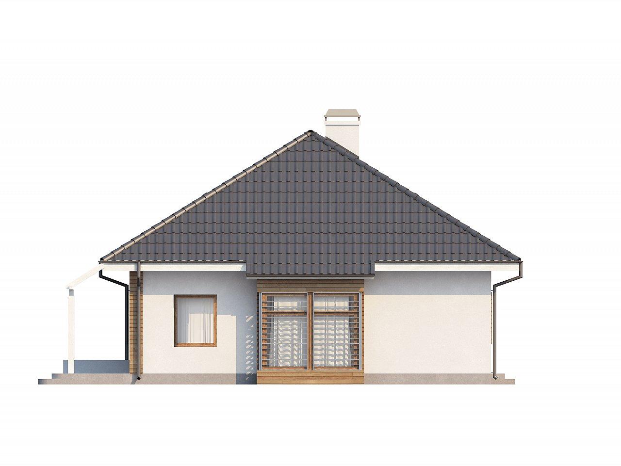 Проект функционального дома с дополнительной небольшой ночной зоной на первом этаже. - фото 5