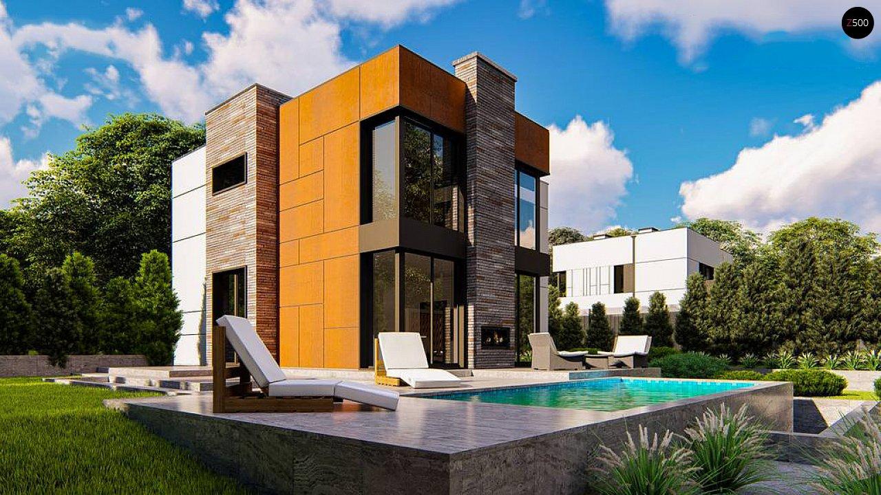 Современный двухэтажный дом без гаража 3