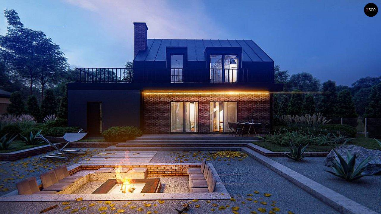 Дом с мансардой, гаражом и большой террасой 7