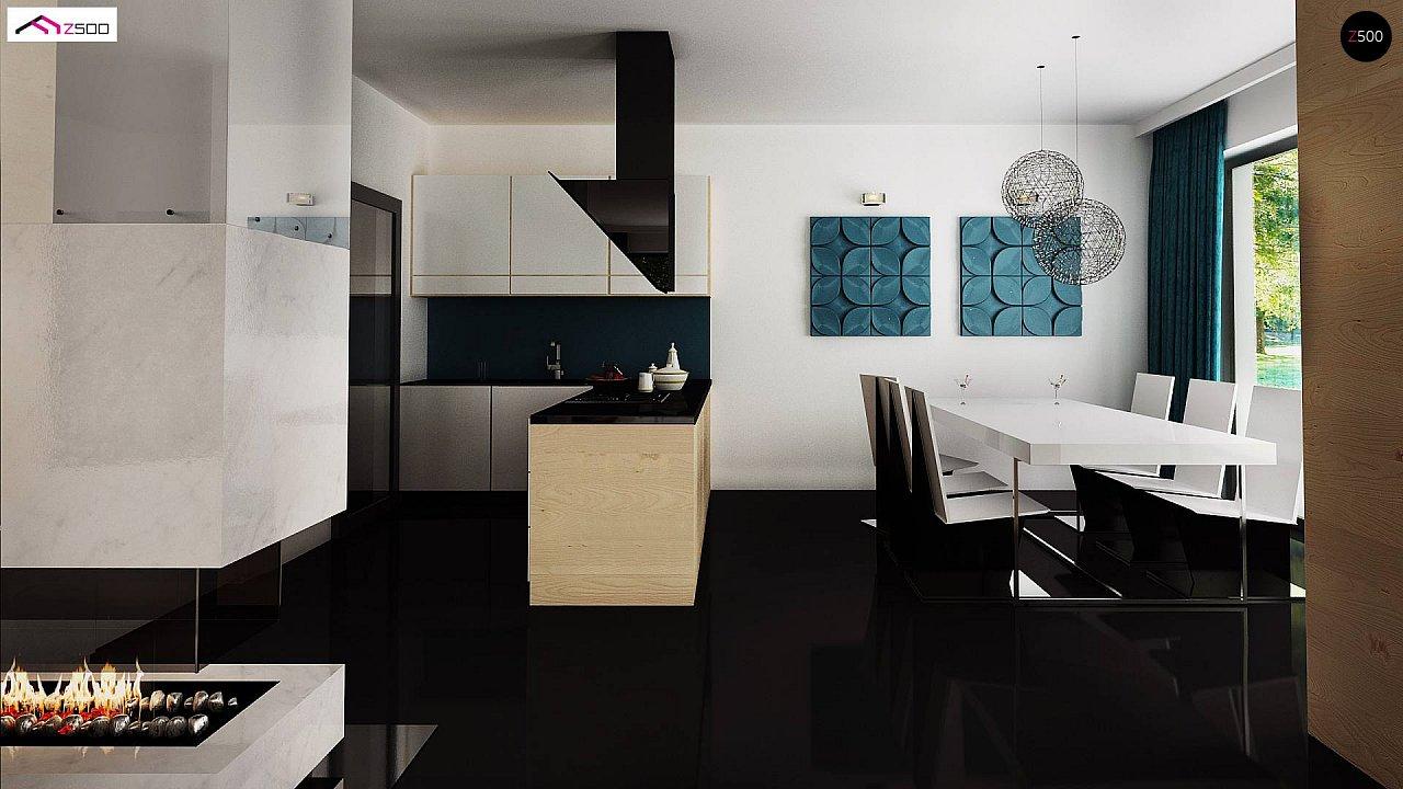 Проект современного двухэтажного дома с большой площадью. остекления. - фото 11