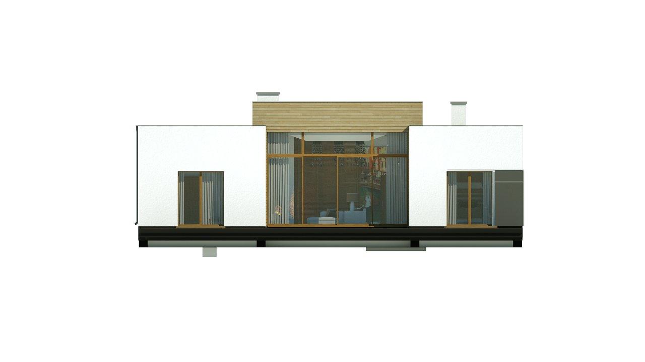 Одноэтажный дом в стиле современного минимализма 12