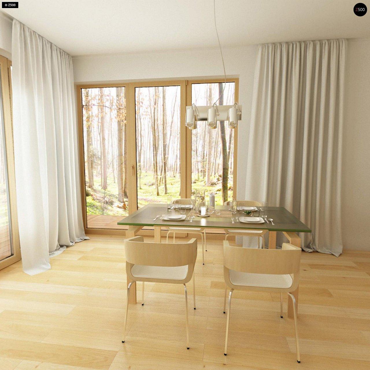Двухэтажный дом, сочетающий традиционные формы и современный дизайн, с тремя спальнями и гаражом. 5