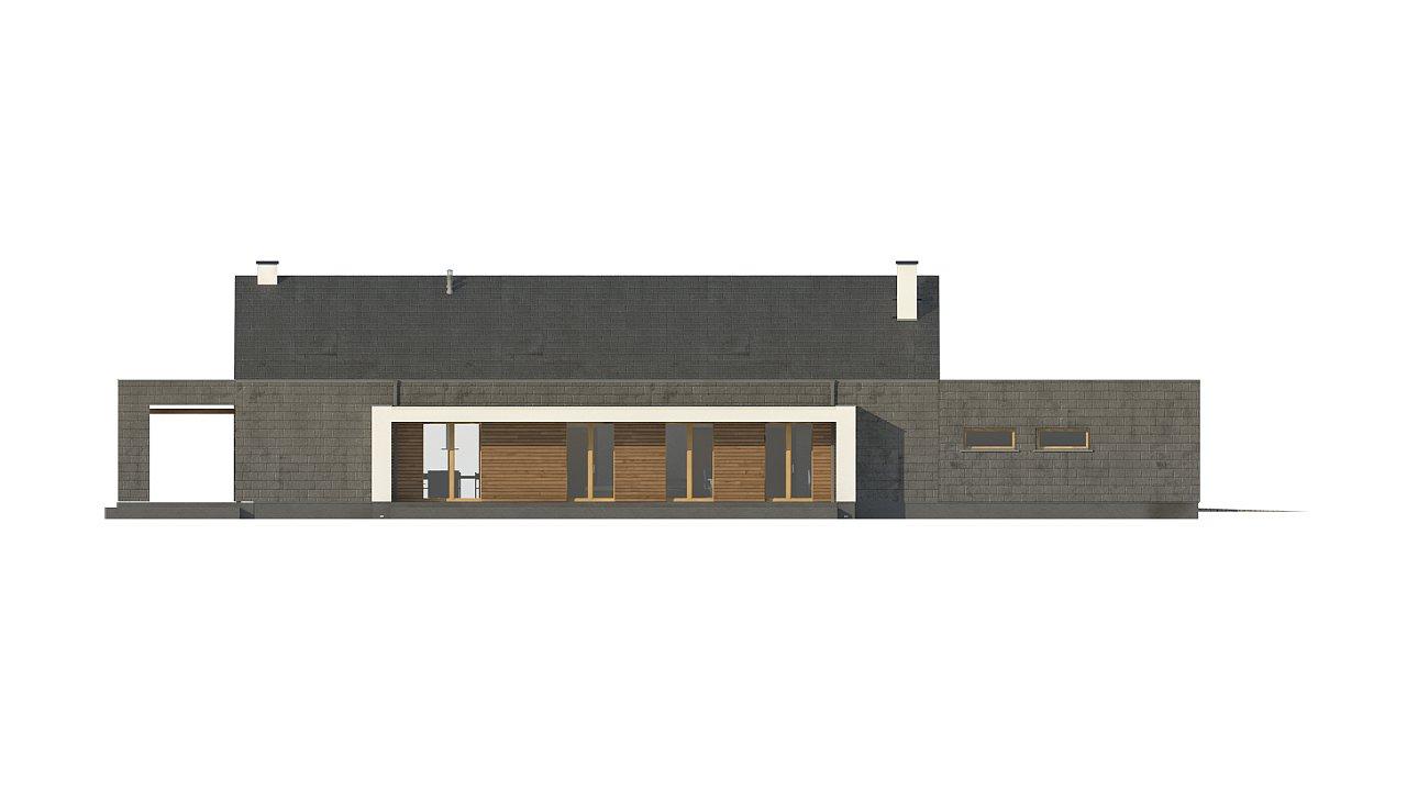 Современный дом с двускатной крышей на узком участке - фото 20