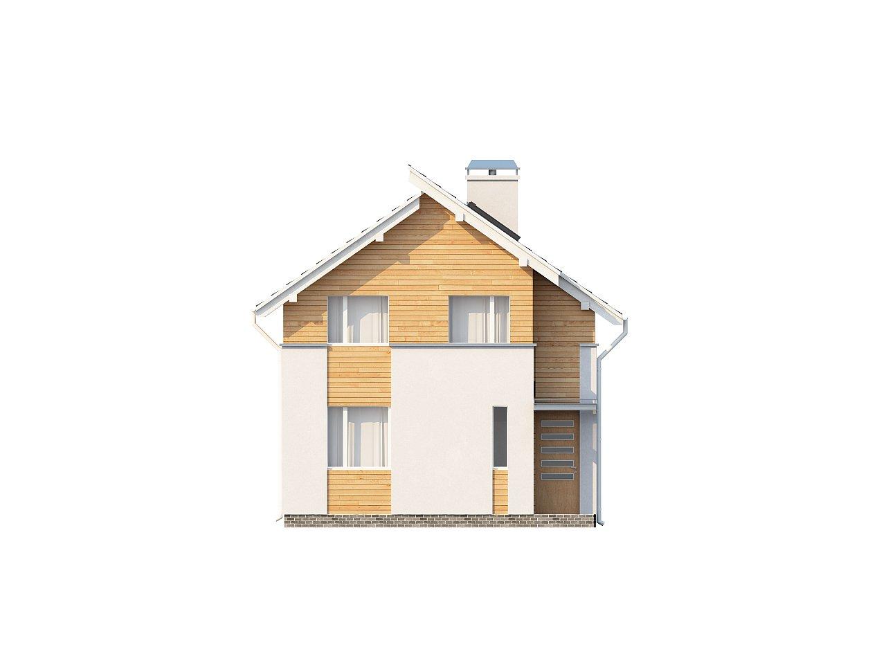 Энергоэффективный и удобный дом с современными элементами отделки фасадов. Подходит для узкого участка. - фото 3