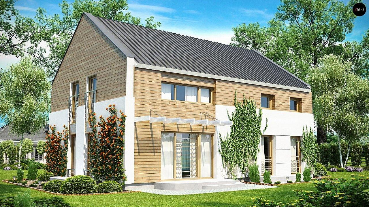 Одна из версий проекта компактного двухэтажного дома zx11 - фото 2