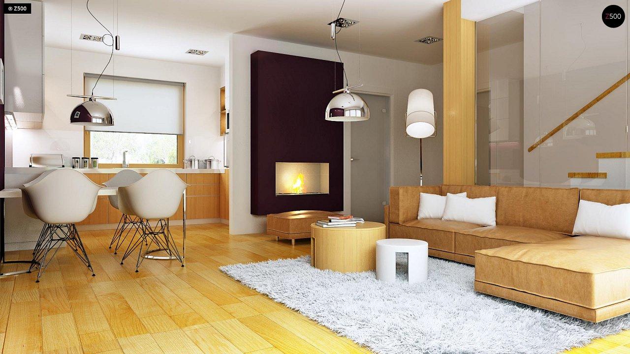 Практичный дом для небольшого участка, простой в строительстве, дешевый в эксплуатации. 6