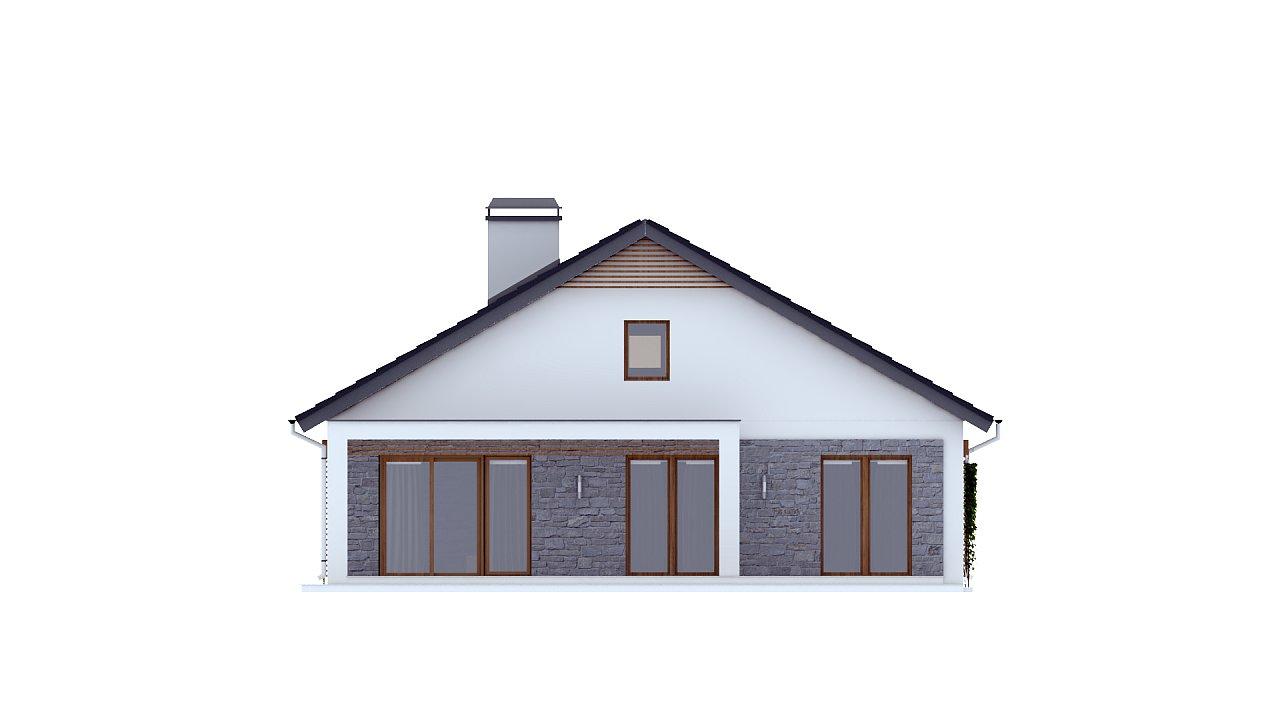 Одноэтажный дом с дополнительной фронтальной террасой. 4