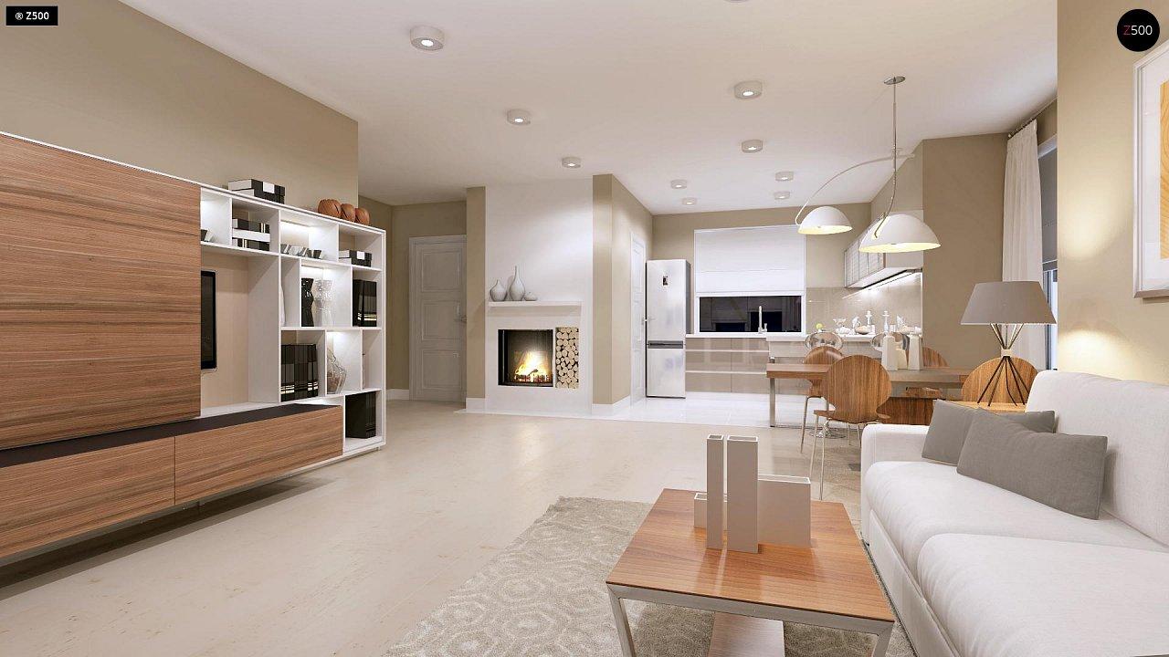 Компактный дом с мансардой, эркером в дневной зоне и c кабинетом на первом этаже. 6