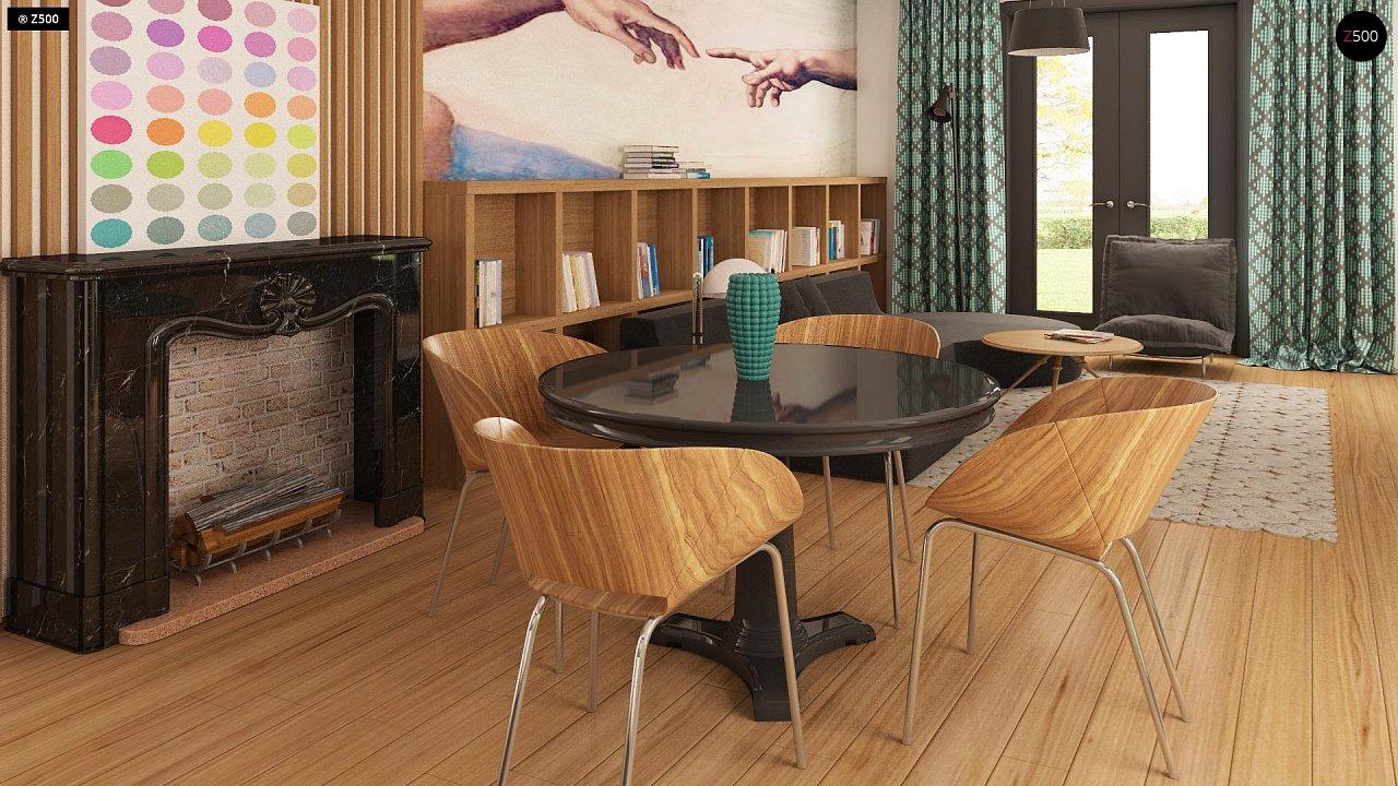 Практичный одноэтажный дом с гаражом для двух автомобилей и большим хозяйственным помещением. 3