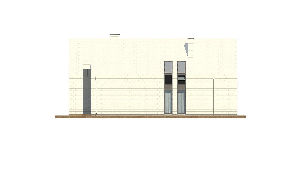 Мансардный дом со встроенным гаражом для одного автомобиля. 16