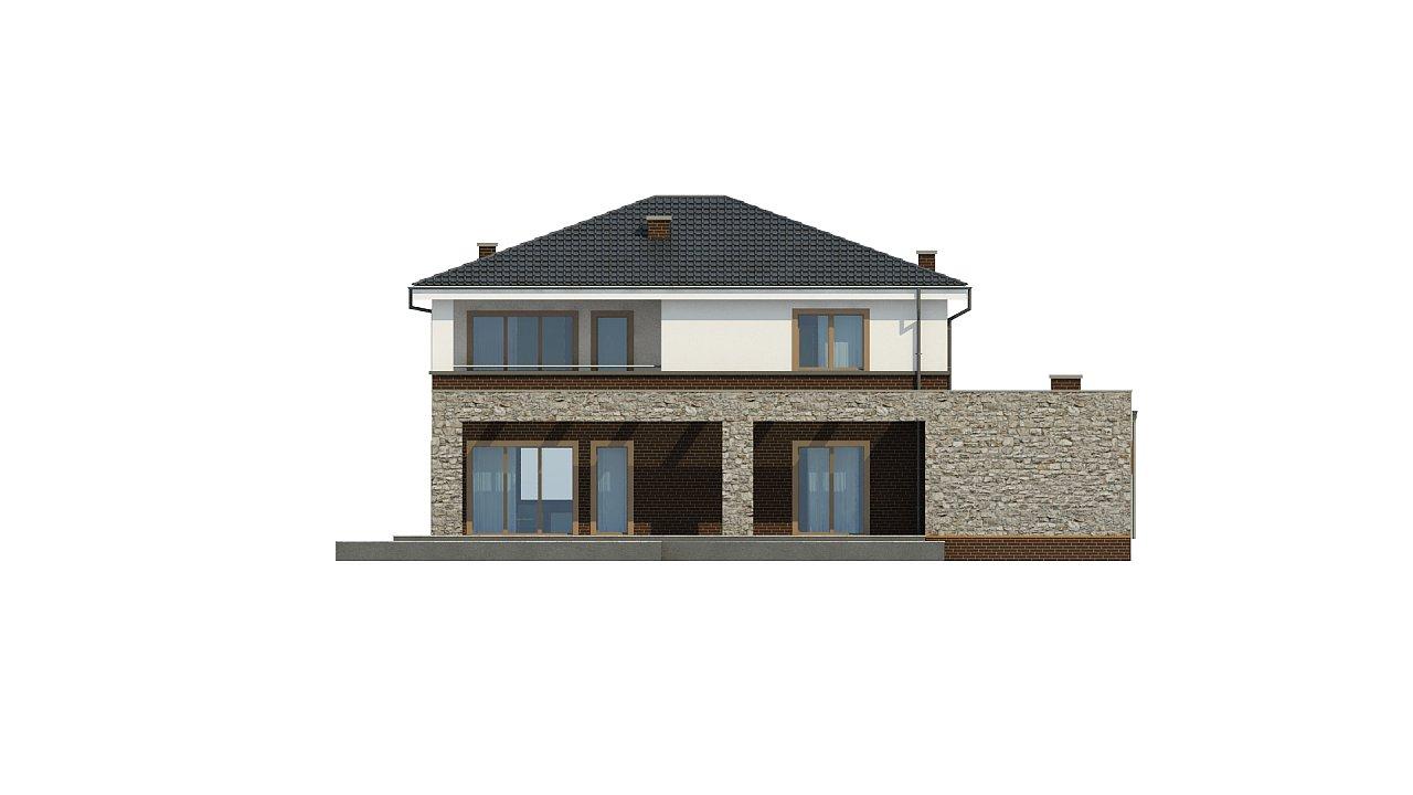 Проект дома с сауной в традиционном стиле - фото 11
