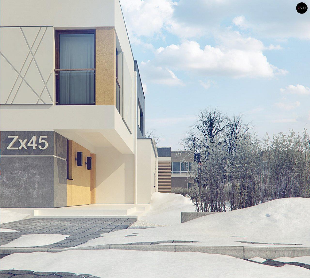 Дом характерного современного дизайна с гаражом и кабинетом на первом этаже. - фото 15