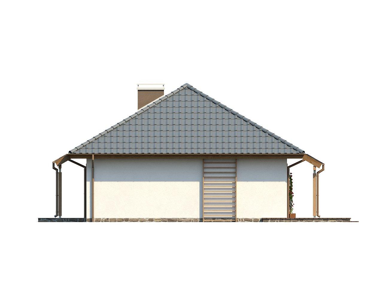 Проект практичного одноэтажного дома в традиционном стиле. 16