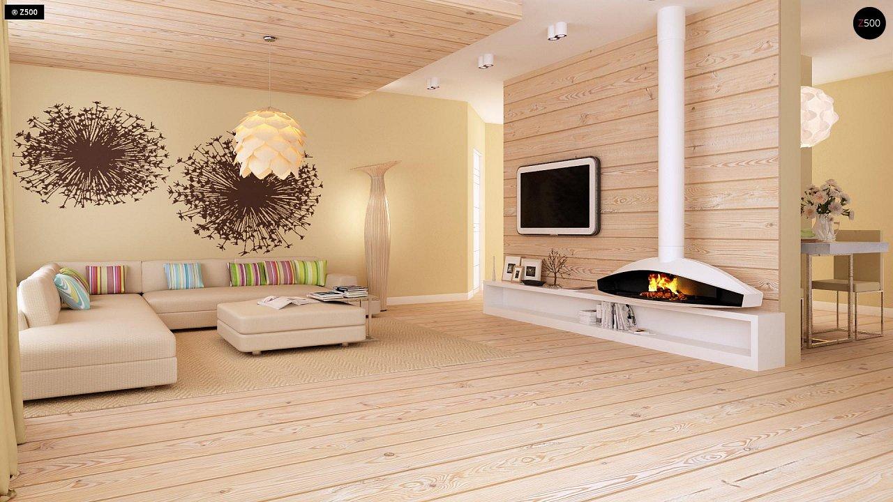Функциональный одноэтажный дом с фронтальным гаражом для двух авто, большим хозяйственным помещением, с кухней со стороны сада. 7