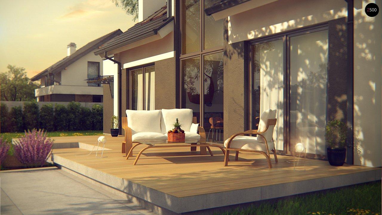 Комфортный дом с оригинальным остеклением в гостиной и вторым светом. - фото 4
