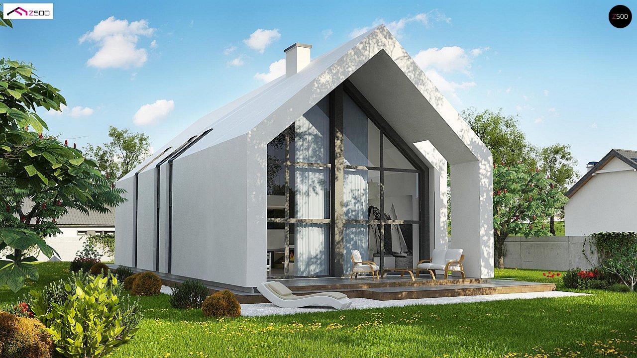 Мансардный дом со встроенным гаражом для одного автомобиля. 4