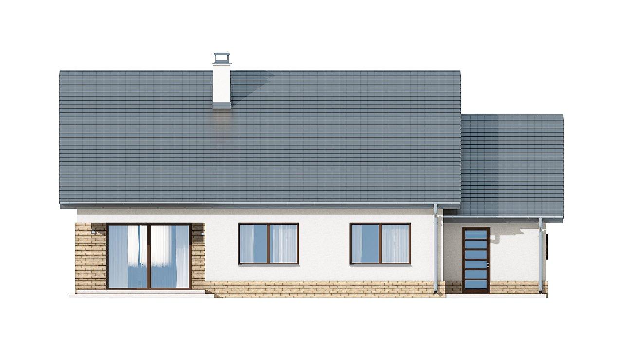 Проект традиционного одноэтажного дома с возможностью обустройства мансарды. 16