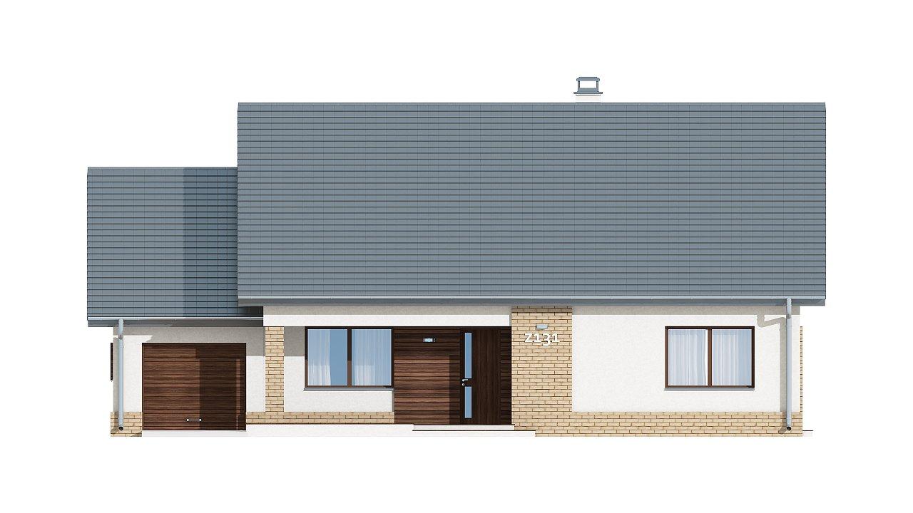 Проект традиционного одноэтажного дома с возможностью обустройства мансарды. 14