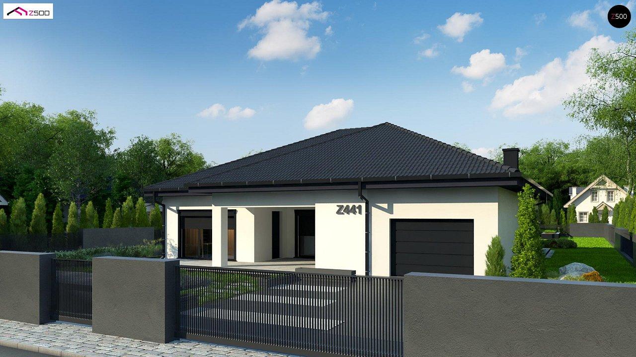 Одноэтажный дом с просторной гостиной и открытой кухней 6