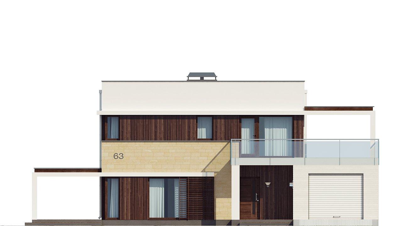 Современный элегантный дом с гостиной с фронтальной стороны. - фото 32