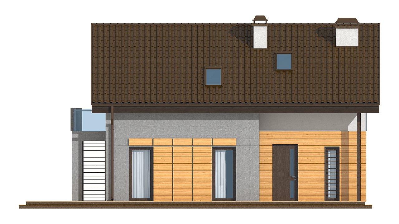 Вариант мансардного дома Z149 без гаража 12