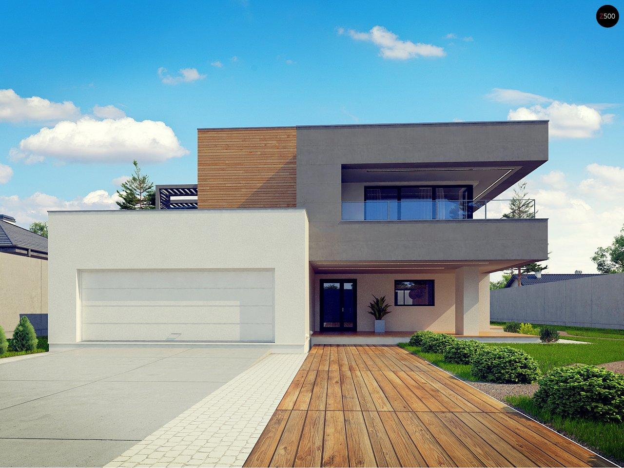 Современный двухэтажный дом с большой площадью остекления. - фото 7