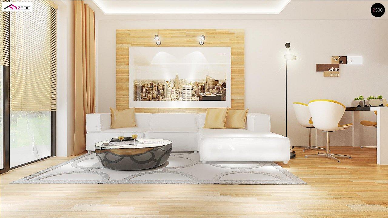Проект выгодного одноэтажного дома с возможностью адаптации чердачного помещения. 4
