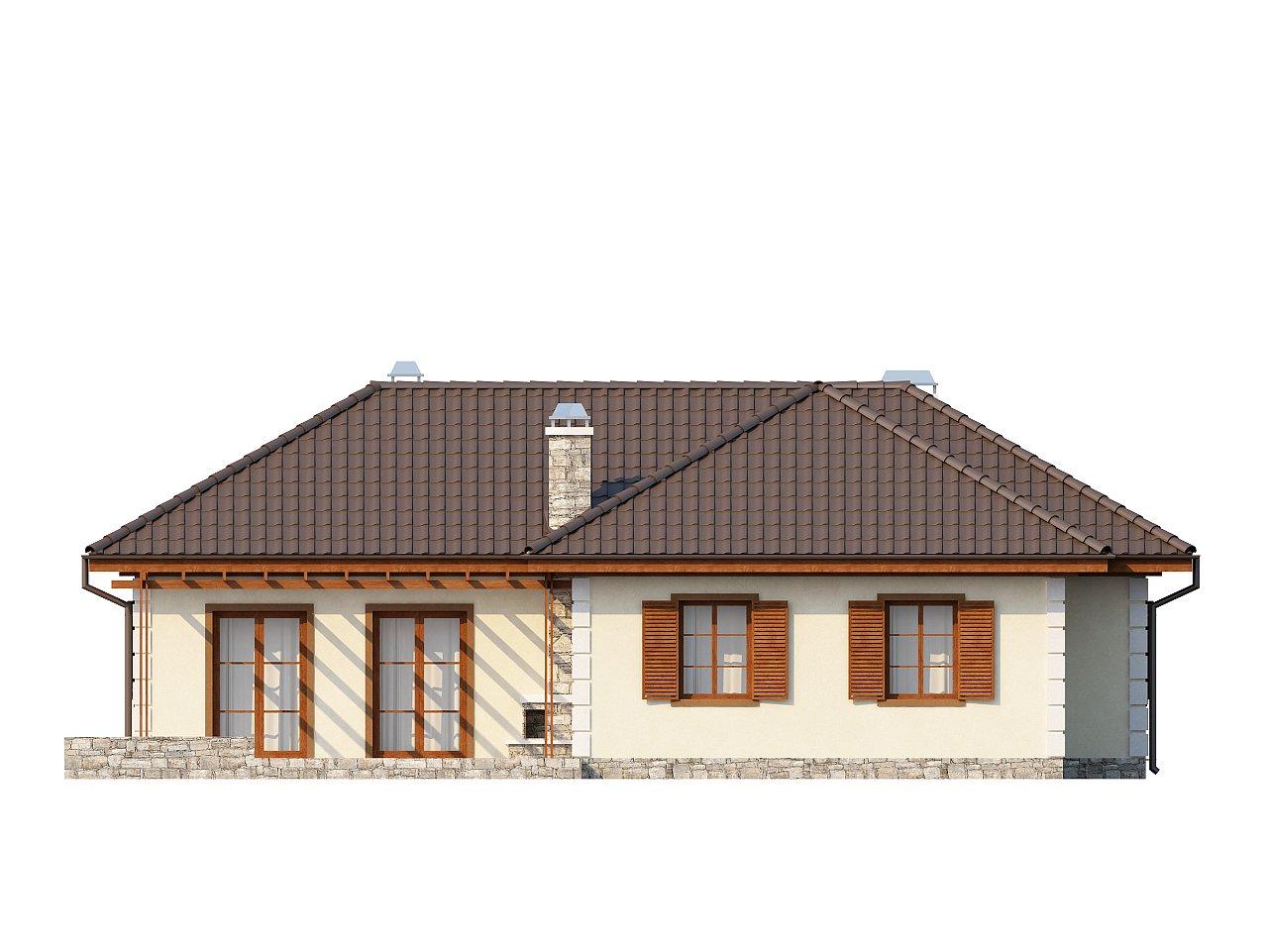 Добротный практичный одноэтажный дом с возможностью обустройства мансарды. - фото 4