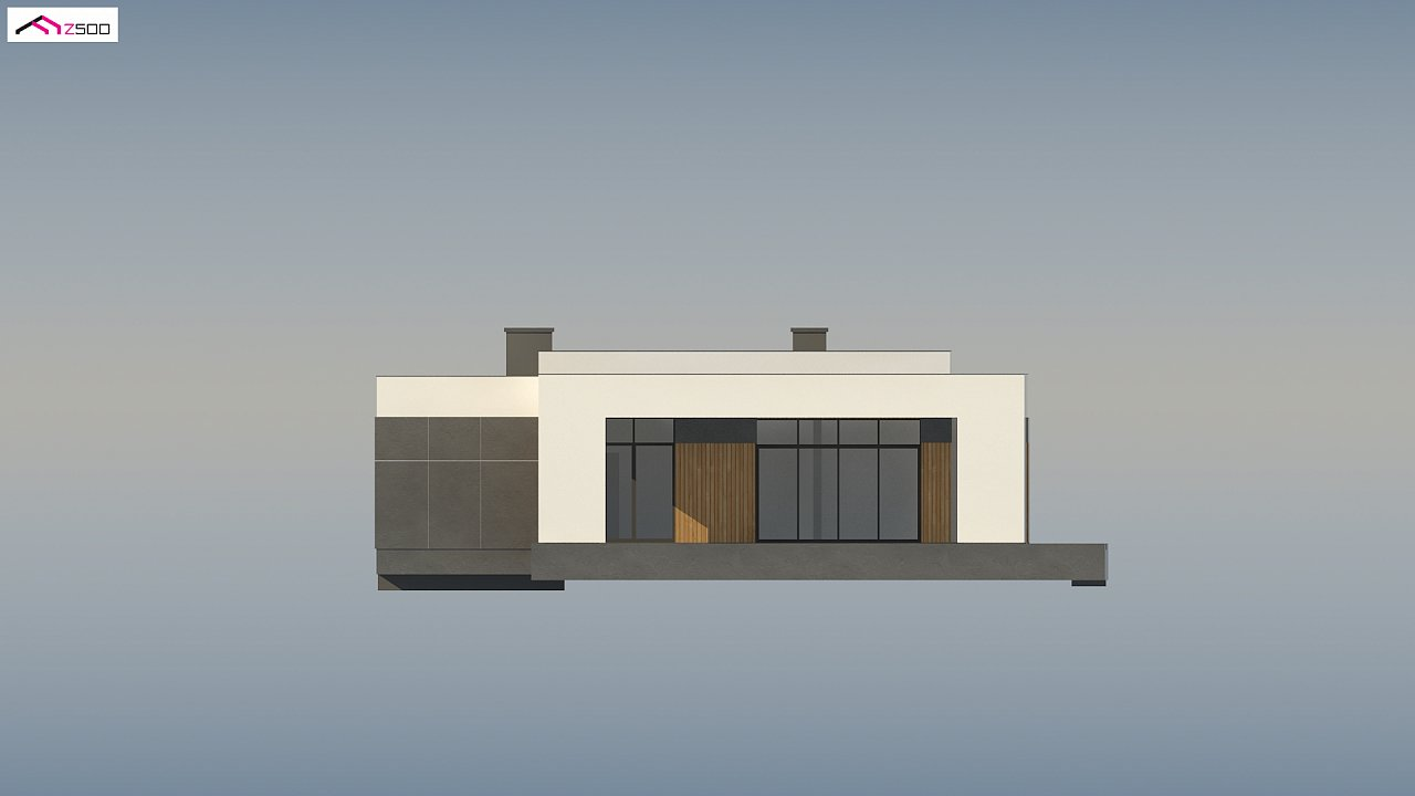 Проект стильного одноэтажного дома в современном стиле 8