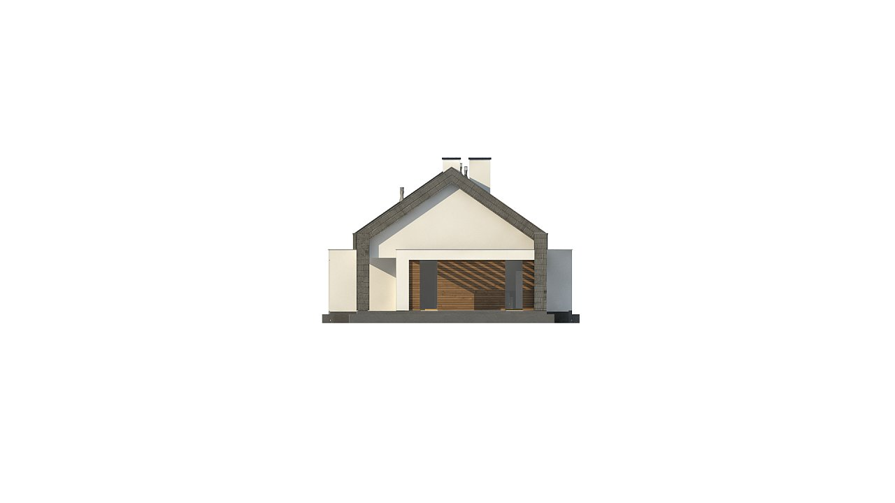 Современный дом с двускатной крышей на узком участке - фото 21