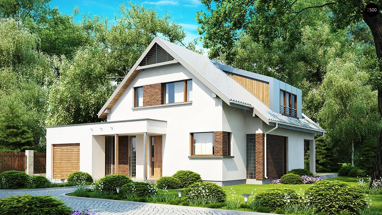 Компактный функциональный дом с оригинальными архитектурными элементами. 1