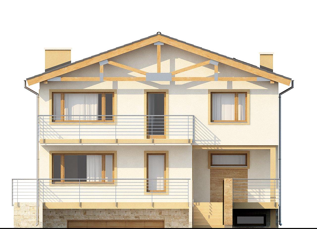 Проект выгодного и практичного двухэтажного дома с подвальным помещение, с дополнительной комнатой на первом этаже. - фото 3