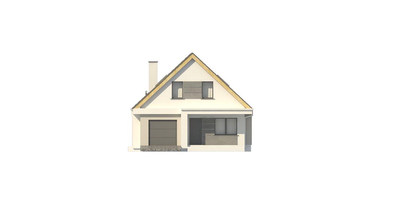 Проект классического мансардного дома с монохромным дизайном экстерьера 8