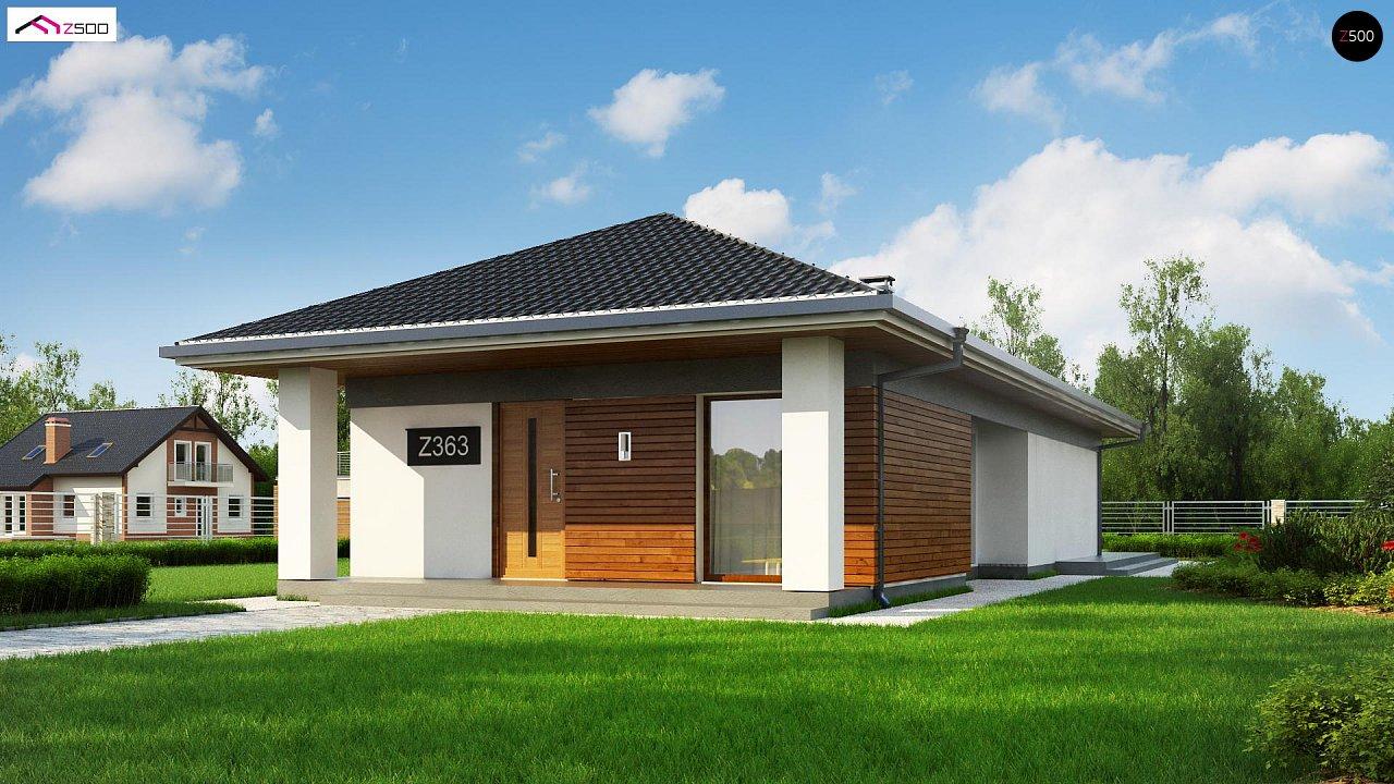 Проект уютного одноэтажного дома с 3 спальнями 2