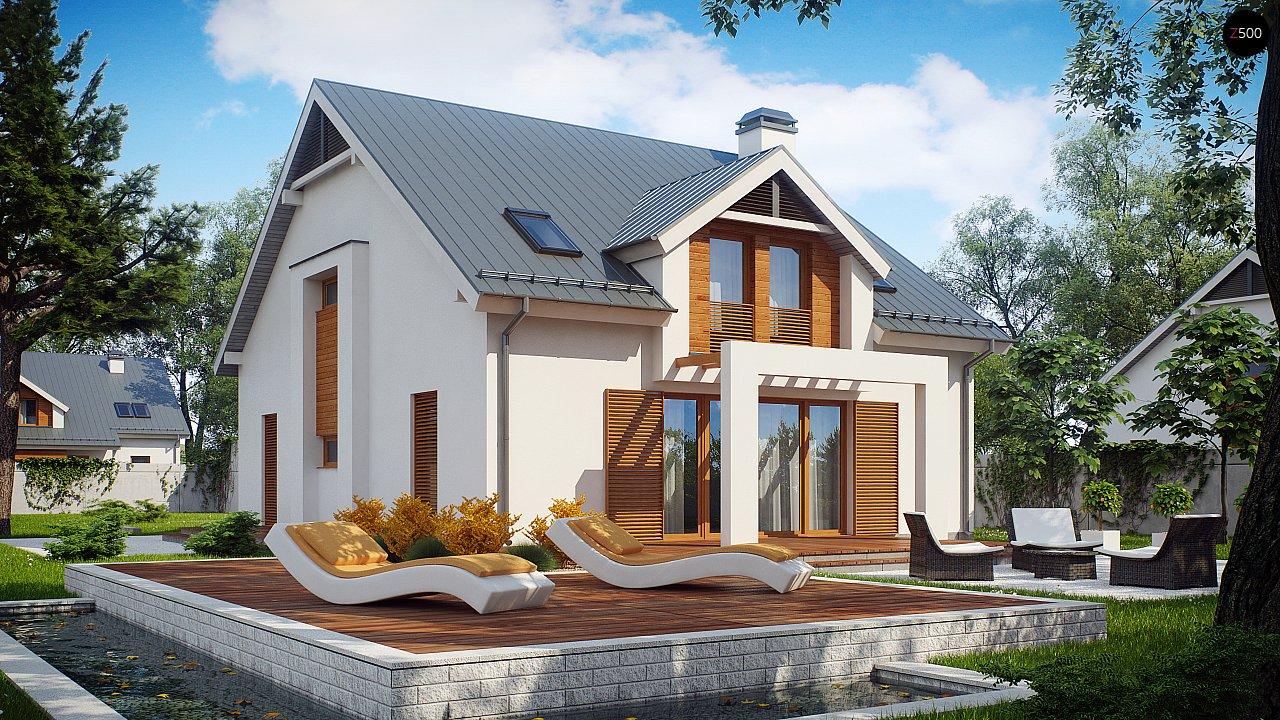 Дом традиционной формы с элегантными современными элементами в архитектуре. - фото 1