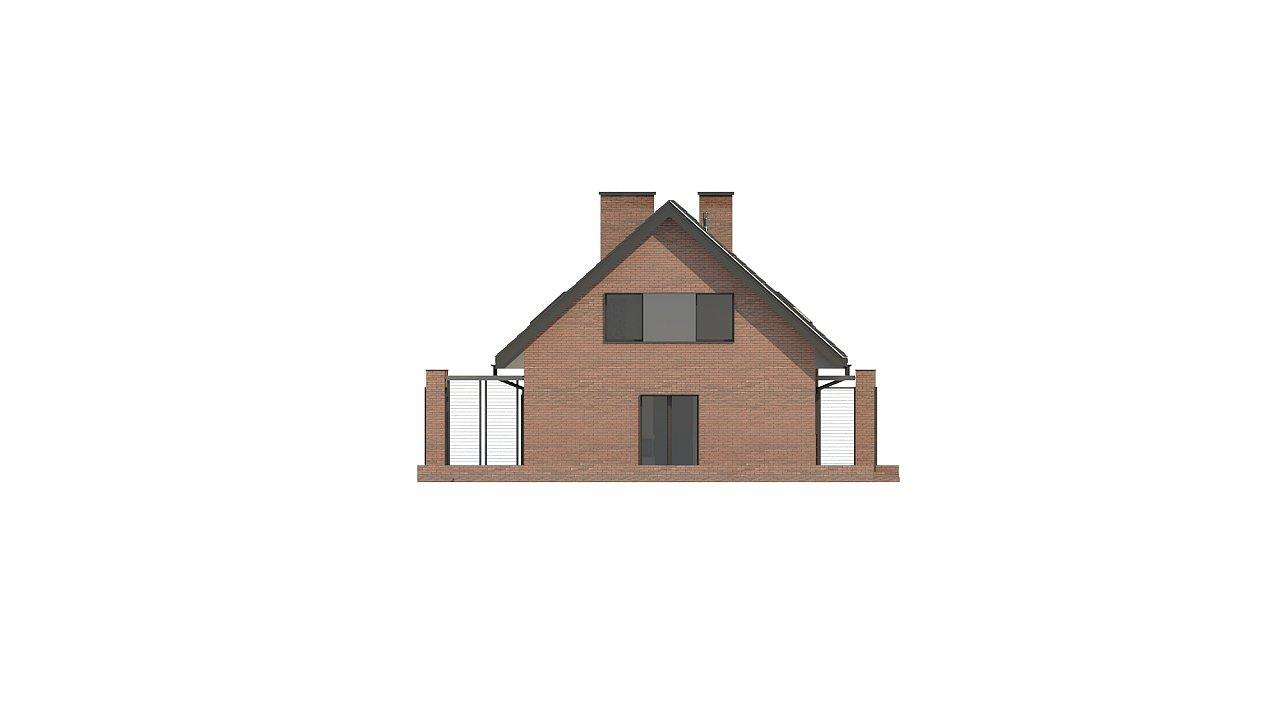 Стильный мансардный дом с двускатной кровлей 11