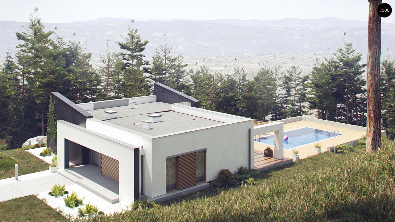 Одноэтажный дом исключительного современного дизайна. 8