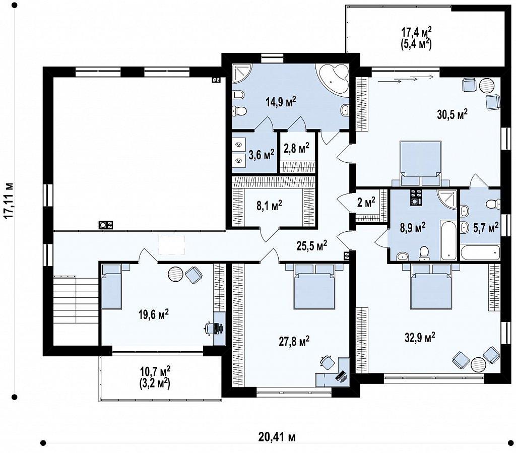Роскошный современный особняк со вторым светом план помещений 2
